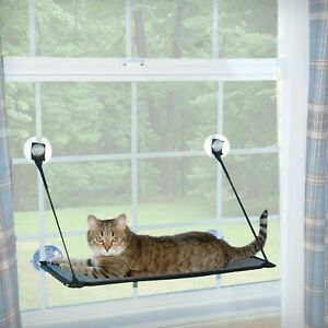 K & H Deluxe Kitty Sill EZ Mount - Window Mounted Cat Perch Bed - up to 22kg