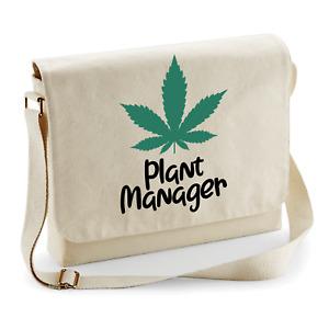Plant Manager Hemp Thc Cannabis Marijuana Fun Shoulder Bag Messenger Bag