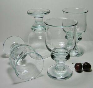 4 HOLMEGAARD * TIVOLI Copenhagen ICE Blue BEER GLASSES by PER LUTKEN Signed HGX