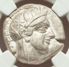 Athens Greece Athena Owl Tetradrachm Silver Coin 440-04 BC NGC Choice VF 3/5 5/5