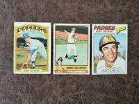 1972-77 Topps Baseball Bobby Valentine 3-card lot - Los Angeles Dodgers