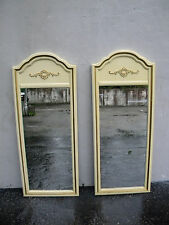 French Pair of Painted Wall Bathroom Vanity Mirrors by Lenoir 5746