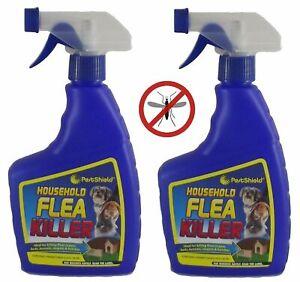 2 x Flea Killing Spray For Cat Dogs Bed Kennel Carpets Home Flea Treatment 500ml