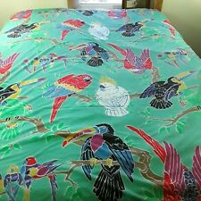 Paul Brent Sheet Set Queen Parrots Exotic Bird Colorful Flat Waterbed Fitted 3pc