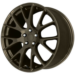 "20"" Inch Verde V1180 Hellcat  20x9.5 5x115 +18mm Bronze Wheel Rim"