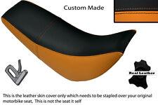 Nera e arancione accoppiamenti personalizzati HYOSUNG RX 125 DUAL LEATHER SEAT COVER