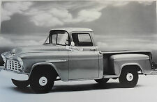 "1955 Chevrolet 3100 Series Pickup 12 X 18"" Black & White Picture"