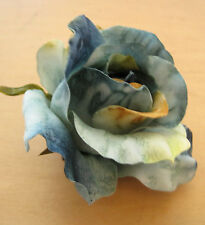 """3"""" Teal Poly Silk Rose Flower Hair Clip,Wedding,Prom,Dance,Bridal,Party"""