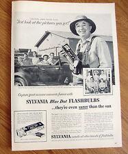 1958 Sylvania Blue Dot Flashbulbs Ad Walter Brennan Granpa Amos on Real McCoys