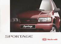 Kia Sportage Prospekt 1997 9/97 deutsche Ausgabe brochure broschyr broszura Auto