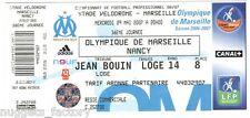 Billet  / Place  OM Olympique de Marseille - OM vs Nancy  ( 067 )
