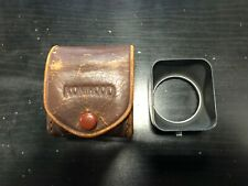 Original Vintage Konica Konihood 37mm Metal Lens Shade Hood w/ Leather Case