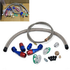 1X Complete Oil Feed+Return Drain Oil Line Kit For T3 T4 GT35 T70 T66 TO4E Turbo