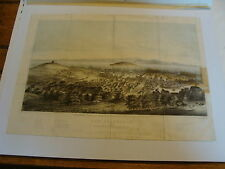 Scarce 1851 Color Lithograph Of San Francisco First Issue w/matte
