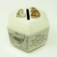 Wedgewood Mrs. Tiggy-winkle Coin Bank Beatrix Potter Designs