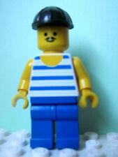 LEGO Minifig pi040 @@ Pirate Red White Stripes Blue Bandana 6266 6285 6286 10040