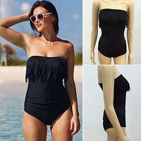 Plus Size Womens Swimwear Padded Push Up Bikini Set Tankini Swimsuit Beach Wear