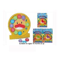 New Funtime Shape Sorting Puzzle Clock Activity Learning Toy 18 Months+-55064