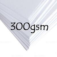 A4 A5 A6 WHITE CARD BLANK STOCK TAGS CRAFT MAKING WEDDING DECOUPAGE PAPER 300gsm