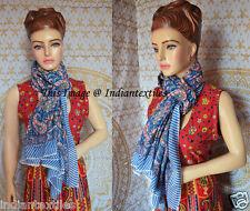 Long Sarong Indian Hand Block Print Fabric Women Cotton Dupata Stole Scarf New
