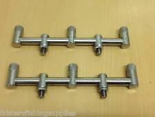 2 x New Short Stainless Steel Carp Fishing Goal Post Buzz Bars 20CM 3 Rods
