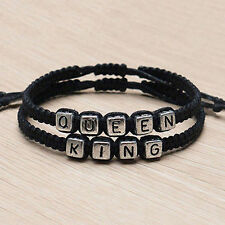 Couple Handmade Bracelets King And Queen His Hers Charm Bracelet Bangle Gift Pop
