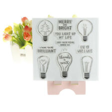Bright light bulb DIY Transparent Silicone Clear Stamps Scrapbook Album DecorSC