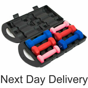 Quickplay Neoprene Dumbell Set Dumbells Fitness Workout Weights Gym Home