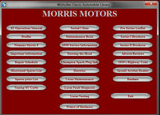Morris 8/eight  pre series, series I, series 2 Companion DVD ROM