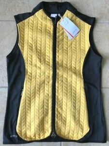 NEW Womens Ping Freya Vest--Sunset Gold/ Black--Size Small/6- S93392-NWT