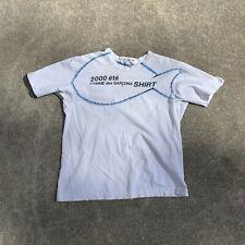 Comme Des Garcons 2000 T Shirt Mens Medium White Fish Logo Used Rare