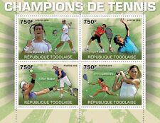 Tennis Federer Nadal Djokovic Jankovich Togo 2010 m/s Mi. 3624-27 MNH #TG10311a