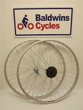 700c PAIR Hybrid Bike Wheels - Quick Release + 5 SPEED FREEWHEEL