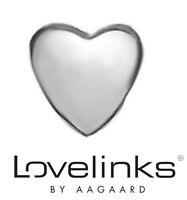 Genuine Lovelinks sterling silver 925 heart bracelet charm bead