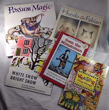 Lot Five Children's Books Kid's stories paperback bargain songs poems history