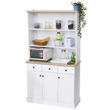 HOMCOM Kitchen Storage Cabinet Buffet Console Bookcase with Drawers & Hutch