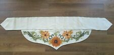 FALL THANKSGIVING Embroidered SUNFLOWER FIREPLACE MANTEL SCARF ~ TABLE TOPPER ~