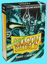 60 DRAGON SHIELD MINT MATTE JAPANESE Card Sleeves Mini Deck Protector yugioh tcg