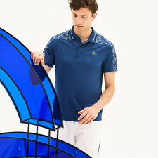 LACOSTE SPORT MEN'S NOVAK DJOKOVIC-ON COURT COLLECTION PRINT TECHNICAL POLO 2XL