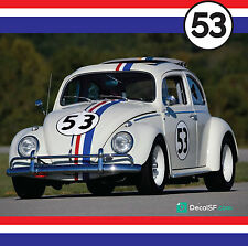 New Herbie Love Bug Decals Vehicle Graphics Stickers set 3m Print vinyl WV KIT