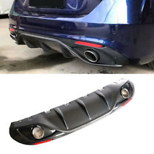 For Alfa Romeo Giulia Carbon Rear Bumper Diffuser And Exhaust Tip Tailpipe 17-19