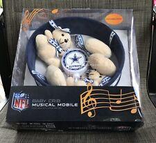 Nfl Dallas Cowboys Baby Crib Musical Mobile Set- New!