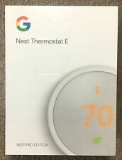 Google Nest Thermostat E White Programmable - New Factory Sealed T4001ES