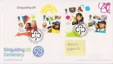 TALLENTS PMK GB ROYAL MAIL FDC 2010 GIRLGUIDING UK GIRL GUIDES MINIATURE SHEET
