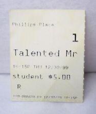 Vintage The Talented Mr. Ripley Movie Ticket Stub 12.30.99 Nc Anthony Minghella