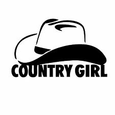 """Country Girl Vinyl Decal """"Sticker"""" For Car or Truck Windows, Laptops, etc"""