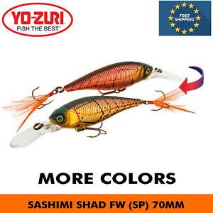 YO-ZURI SASHIMI SHAD FW SP SUSPENDING CHAMELEON FISHING HARD BAIT LURE 70MM 9.5G