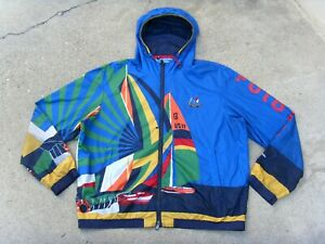 Polo Ralph Lauren 1992 Stadium Sailing Yacht Cross Flags CP-93 Jacket Men's XXL