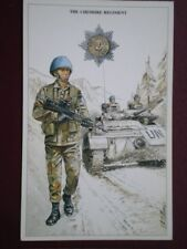 POSTCARD THE CHESHIRE REGIMENT - SERGEANT COMBAT ORDER UN BOSINA