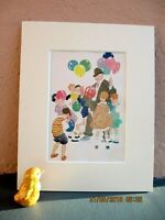 vintage circus illustration/  children and balloons  by Gertrude Alice Kay 1927